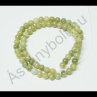 Szerpentin zöld 6 mm-es golyós szál
