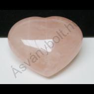 Rózsakvarc óriás szív dísztárgy 6670