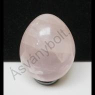 Rózsakvarc tojás dísztárgy 4880