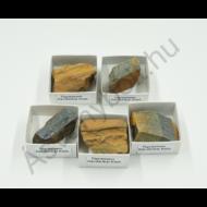 Tigrisszem-sólyomszem tört ásvány dobozban