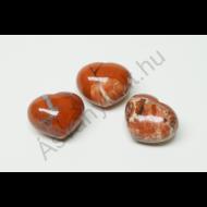 Jáspis kis szív marokkő