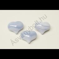 Kalcedon csúcsos szív marokkő