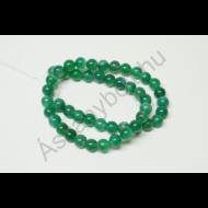 Achát festett zöld 8-as golyós szál
