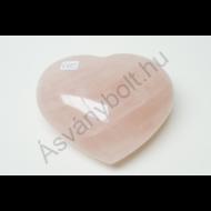 Rózsakvarc extra szív faragvány 9850