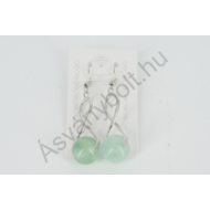 Fluorit zöld 12-es golyós nemesacélos csavart füli