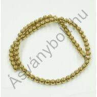 Hematit aranyszínű 6 mm-es szál