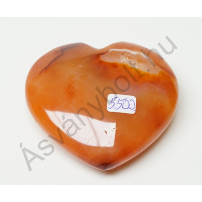 Karneol szív dísztárgy 5500