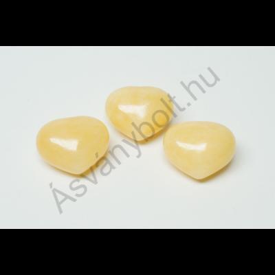 Narancs kalcit kis szív marokkő