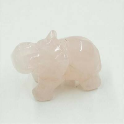 Rózsakvarc kicsi elefánt