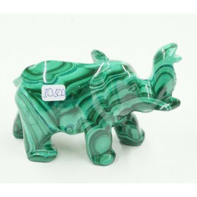 Malachit elefánt 30300