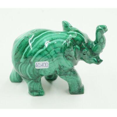 Malachit elefánt 40100