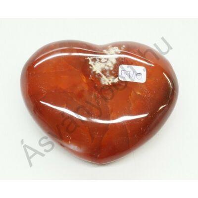 Karneol szív dísztárgy faragás 5740