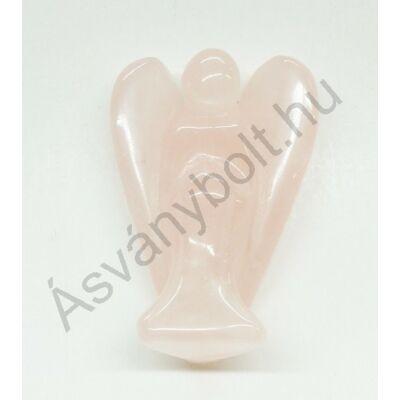 Rózsakvarc nagy angyal figura