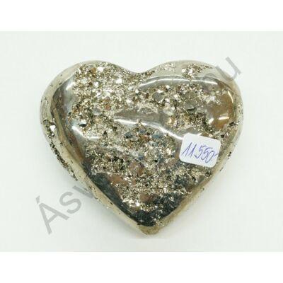 Pirit faragott szív dísztárgy 11550