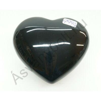 Obszidián szivárványos szív faragás 9990