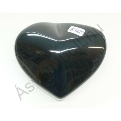 Obszidián szivárványos szív faragás 10400